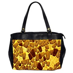 Yellow Cast Background Office Handbags (2 Sides)