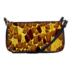 Yellow Cast Background Shoulder Clutch Bags