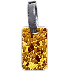 Yellow Cast Background Luggage Tags (One Side)