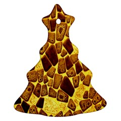 Yellow Cast Background Ornament (christmas Tree)