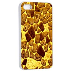 Yellow Cast Background Apple Iphone 4/4s Seamless Case (white)