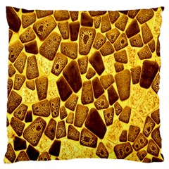 Yellow Cast Background Large Cushion Case (two Sides)