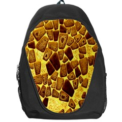 Yellow Cast Background Backpack Bag
