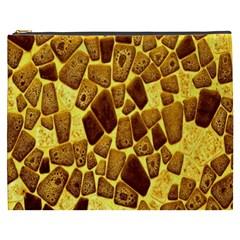 Yellow Cast Background Cosmetic Bag (XXXL)