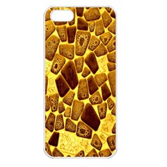 Yellow Cast Background Apple Iphone 5 Seamless Case (white)