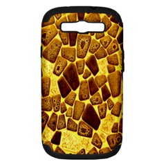 Yellow Cast Background Samsung Galaxy S III Hardshell Case (PC+Silicone)