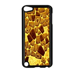 Yellow Cast Background Apple Ipod Touch 5 Case (black)