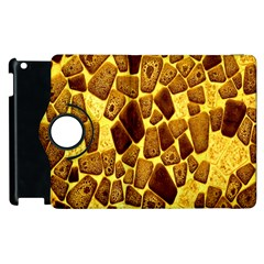 Yellow Cast Background Apple iPad 3/4 Flip 360 Case