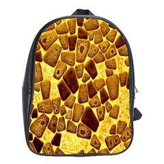 Yellow Cast Background School Bags (xl)