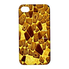 Yellow Cast Background Apple iPhone 4/4S Hardshell Case with Stand