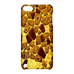 Yellow Cast Background Apple Ipod Touch 5 Hardshell Case With Stand
