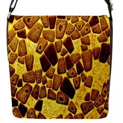 Yellow Cast Background Flap Messenger Bag (s)