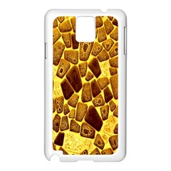 Yellow Cast Background Samsung Galaxy Note 3 N9005 Case (White)