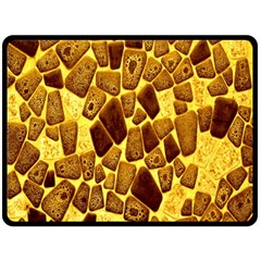 Yellow Cast Background Double Sided Fleece Blanket (large)