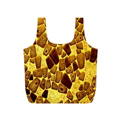 Yellow Cast Background Full Print Recycle Bags (s)