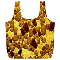 Yellow Cast Background Full Print Recycle Bags (l)