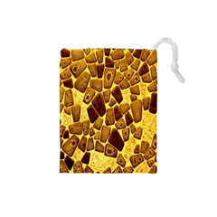 Yellow Cast Background Drawstring Pouches (small)