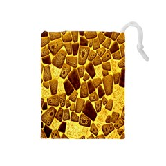 Yellow Cast Background Drawstring Pouches (Medium)