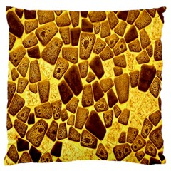 Yellow Cast Background Large Flano Cushion Case (one Side)