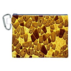 Yellow Cast Background Canvas Cosmetic Bag (XXL)