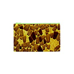 Yellow Cast Background Cosmetic Bag (XS)
