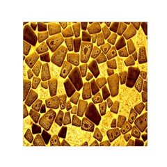 Yellow Cast Background Small Satin Scarf (square)