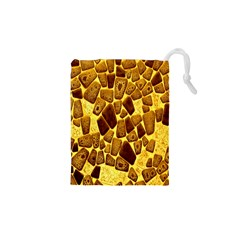 Yellow Cast Background Drawstring Pouches (xs)