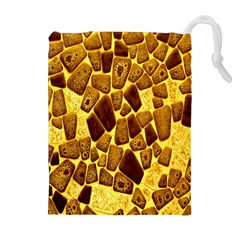 Yellow Cast Background Drawstring Pouches (extra Large)