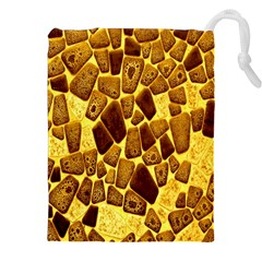 Yellow Cast Background Drawstring Pouches (xxl)
