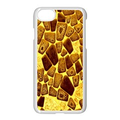 Yellow Cast Background Apple Iphone 7 Seamless Case (white)