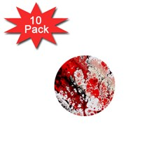 Red Fractal Art 1  Mini Buttons (10 Pack)