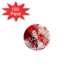 Red Fractal Art 1  Mini Magnets (100 Pack)