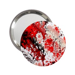 Red Fractal Art 2 25  Handbag Mirrors