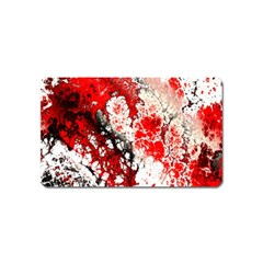 Red Fractal Art Magnet (name Card)