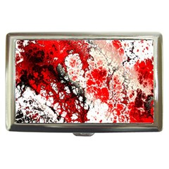 Red Fractal Art Cigarette Money Cases
