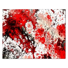 Red Fractal Art Rectangular Jigsaw Puzzl