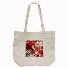Red Fractal Art Tote Bag (cream)