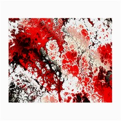 Red Fractal Art Small Glasses Cloth
