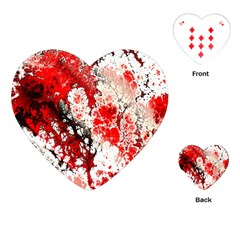 Red Fractal Art Playing Cards (heart)