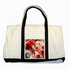 Red Fractal Art Two Tone Tote Bag