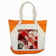 Red Fractal Art Accent Tote Bag