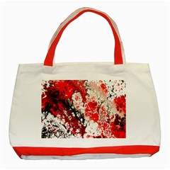 Red Fractal Art Classic Tote Bag (red)