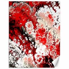 Red Fractal Art Canvas 12  X 16