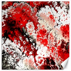 Red Fractal Art Canvas 16  X 16