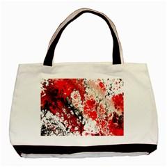 Red Fractal Art Basic Tote Bag (Two Sides)