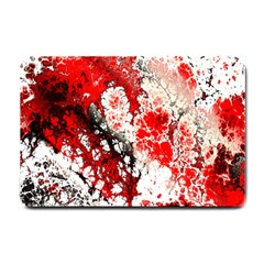 Red Fractal Art Small Doormat