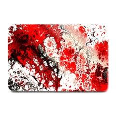 Red Fractal Art Plate Mats