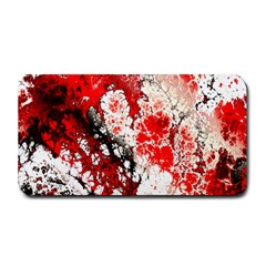 Red Fractal Art Medium Bar Mats