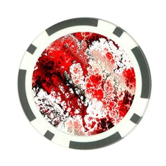 Red Fractal Art Poker Chip Card Guard