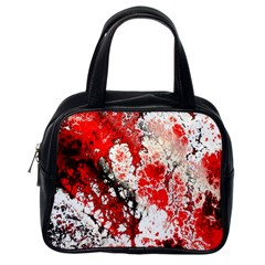 Red Fractal Art Classic Handbags (one Side)